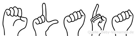 Elada im Fingeralphabet der Deutschen Gebärdensprache