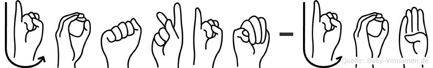 Joakim-Job im Fingeralphabet der Deutschen Gebärdensprache