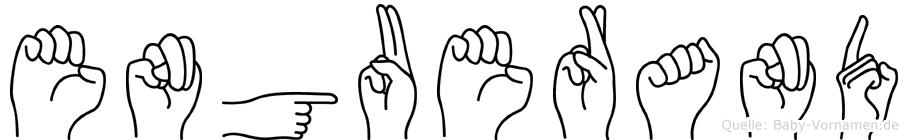 Enguerand in Fingersprache für Gehörlose