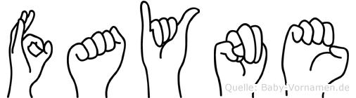 Fayne im Fingeralphabet der Deutschen Gebärdensprache