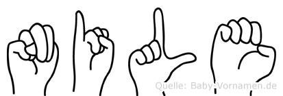 Nile im Fingeralphabet der Deutschen Gebärdensprache