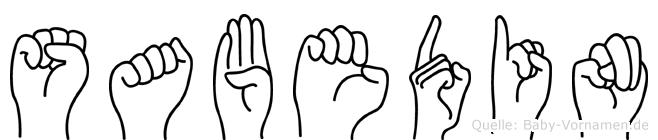 Sabedin in Fingersprache für Gehörlose