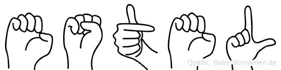 Estel in Fingersprache für Gehörlose
