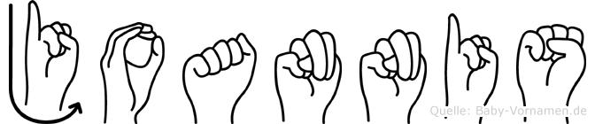 Joannis in Fingersprache für Gehörlose