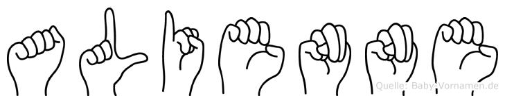 Alienne in Fingersprache für Gehörlose