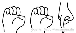Eep im Fingeralphabet der Deutschen Gebärdensprache