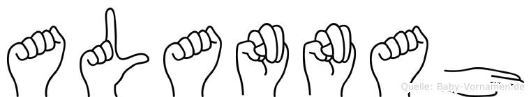 Alannah im Fingeralphabet der Deutschen Gebärdensprache