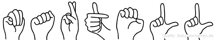 Martell in Fingersprache für Gehörlose