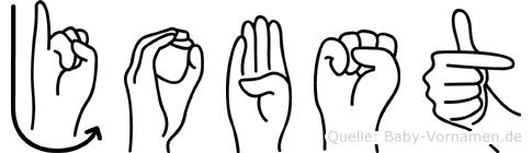 Jobst im Fingeralphabet der Deutschen Gebärdensprache