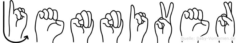 Jenniver in Fingersprache für Gehörlose