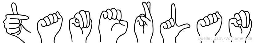 Tamerlan im Fingeralphabet der Deutschen Gebärdensprache