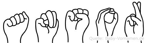 Ansor in Fingersprache für Gehörlose