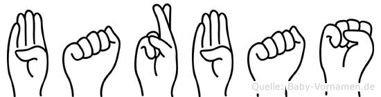 Barbas im Fingeralphabet der Deutschen Gebärdensprache