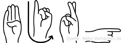 Björg in Fingersprache für Gehörlose
