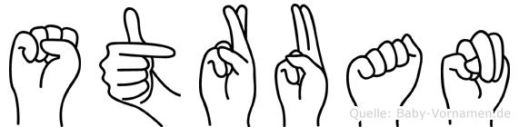 Struan in Fingersprache für Gehörlose