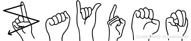 Zayden im Fingeralphabet der Deutschen Gebärdensprache