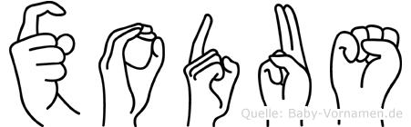 Xodus in Fingersprache für Gehörlose