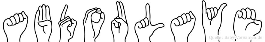 Abdoulaye im Fingeralphabet der Deutschen Gebärdensprache