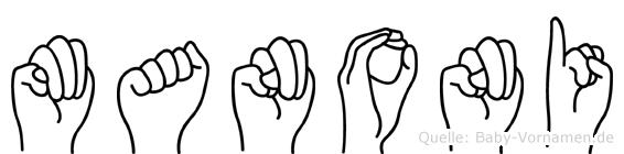 Manoni in Fingersprache für Gehörlose