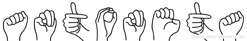 Antoneta im Fingeralphabet der Deutschen Gebärdensprache
