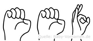 Eef in Fingersprache für Gehörlose