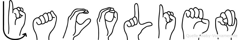 Jacolien in Fingersprache für Gehörlose