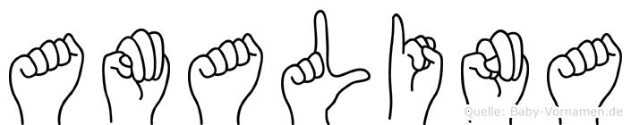 Amalina in Fingersprache für Gehörlose