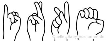 Irke in Fingersprache für Gehörlose