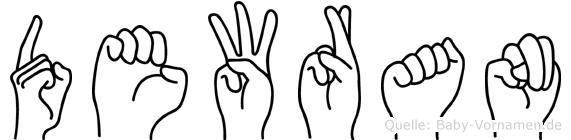 Dewran im Fingeralphabet der Deutschen Gebärdensprache