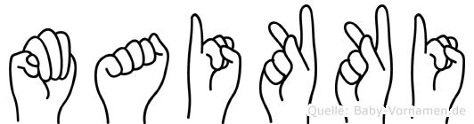 Maikki in Fingersprache für Gehörlose