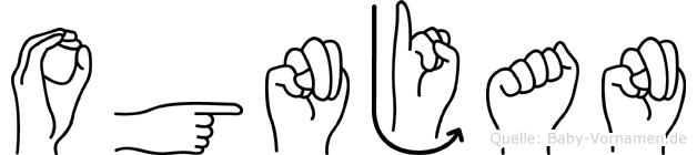 Ognjan in Fingersprache für Gehörlose