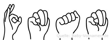 Fnan in Fingersprache für Gehörlose