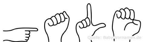 Gale im Fingeralphabet der Deutschen Gebärdensprache