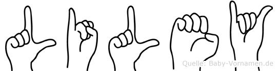 Liley in Fingersprache für Gehörlose