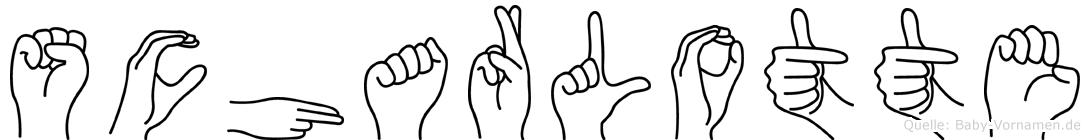 Scharlotte im Fingeralphabet der Deutschen Gebärdensprache