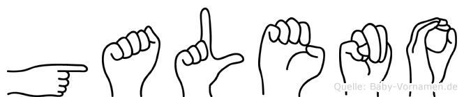 Galeno im Fingeralphabet der Deutschen Gebärdensprache