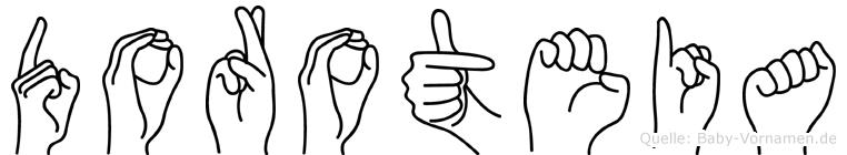 Doroteia in Fingersprache für Gehörlose