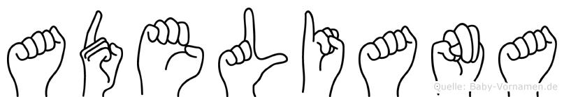 Adeliana in Fingersprache für Gehörlose