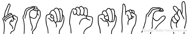 Domenick in Fingersprache für Gehörlose