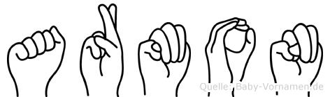 Armon im Fingeralphabet der Deutschen Gebärdensprache