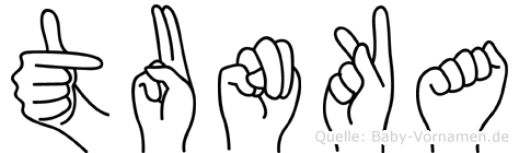 Tunka in Fingersprache für Gehörlose