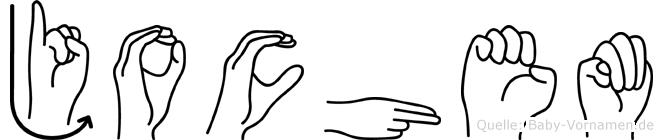 Jochem in Fingersprache für Gehörlose