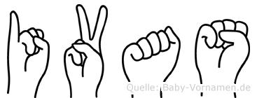 Ivas in Fingersprache für Gehörlose