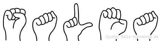 Salea im Fingeralphabet der Deutschen Gebärdensprache