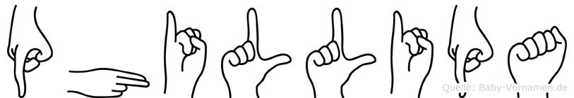 Phillipa in Fingersprache für Gehörlose