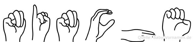 Ninche in Fingersprache für Gehörlose