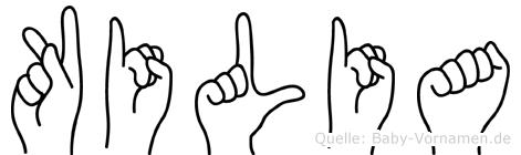 Kilia im Fingeralphabet der Deutschen Gebärdensprache