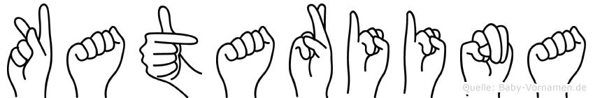 Katariina im Fingeralphabet der Deutschen Gebärdensprache