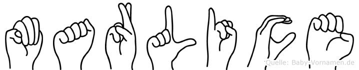 Marlice in Fingersprache für Gehörlose