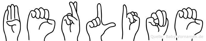 Berline in Fingersprache für Gehörlose